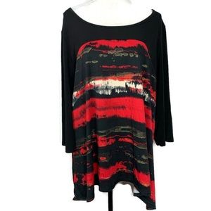 Avenue Abstract Colorful Blouse Size 18/20